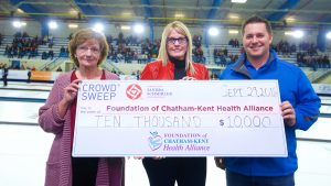 Donation - Sandra Schmirler Foundation to Foundation of CKHA, Saturday September 29, 2018